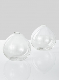 4in Clear Ball Vase, Set of 2