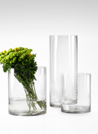 8x8-, 10x12-, & 8x20-inch Clear Glass Cylinders