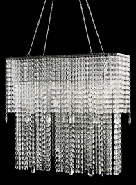 19IN OBLONG CRYSTAL CHANDELIER