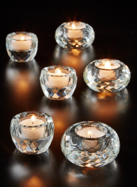 Crystal Faceted Tea Light Holders