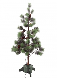 4ft Fiber Optic Pine Needle Christmas Tree