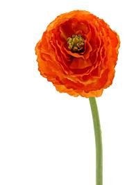 Dark Orange Ranunculus Faux Silk Flower L14508DOR