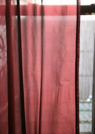 40 x 86in Deep Burgundy Poly Silk Tab Top Curtain Panel