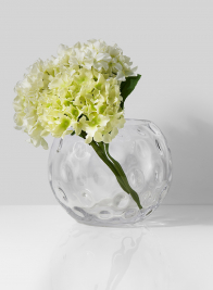 polka dot dimple glass fishbowl vase