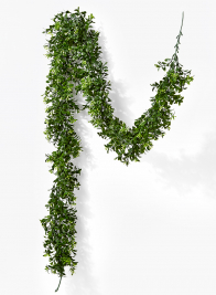 flowering boxwood garland wedding ceremony decor