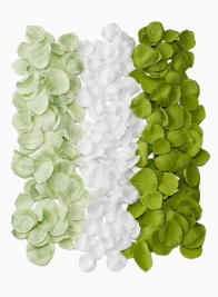 Pale Green, White, & Green Foam Rose Petals