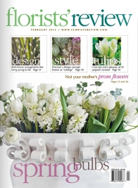 florists review february 2015 cover spring bulbs