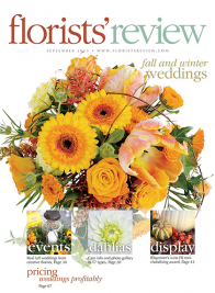 florists' review september 2015 cover fall winter weddings