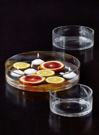 2 & 3-inch High Glass Bowls