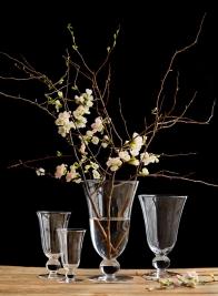 6in - 12in Vienna Clear Glass Urns