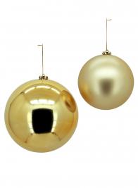 Matte Champagne & Shiny Gold Plastic Ornament Balls