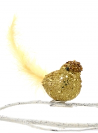 gold glitter bird clip 60513241-2