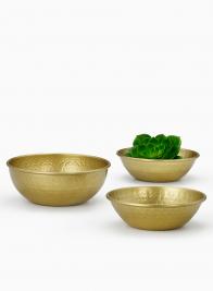 Hammered Gold Bowls