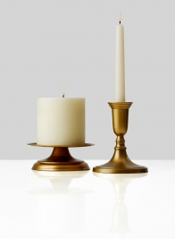 antique gold pillar candle holder and candlestick