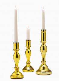Gold Glass Candlesticks