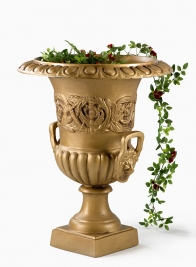 gold urn classic garden wedding ceremony decor