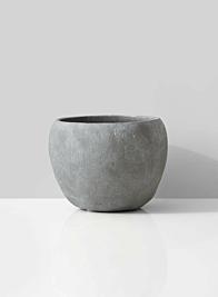 grey cement fishbowl vase