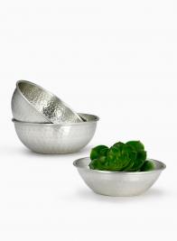 Hammered Silver Bowls