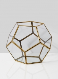6 1/2in Glass Honeycomb Candleholder