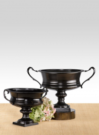 Antique Black Urns