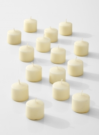 ivory 10-hour votive candles for wedding parties events