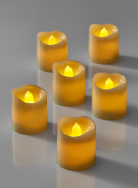 LED votive flameless candle for museum weddings parties and events