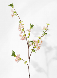 light pink cherry blossom branch silk flower for spring weddings