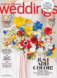 martha stewart weddings summer 2017 cover
