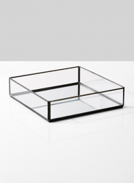 8in & 12in Square Mirror Bottom Trays