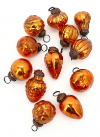 mini copper mercury ornaments BG-8065-CO