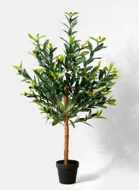 artificial olive tree topiary for window retail store display