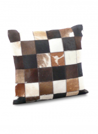 16in Mixed Cowhair Leather Pillow