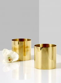 polished brass gold vase for wedding event christmas party flowers