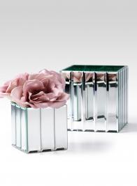 modern wedding centerpiece mirror strips vase