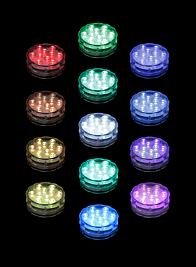 multicolor submersible LED light AUR-DXND-MLT