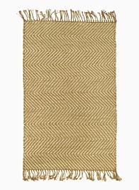Natural Jute Herringbone Zig Zag Stripe Hand Woven Rug