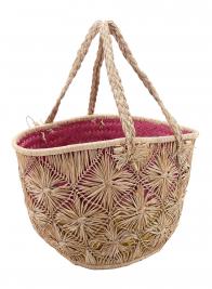 Natural Raffia Bag With Braid Strap