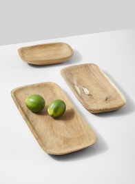 natural teak wood tray limes