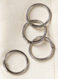 Nickel Cuff Napkin Ring, Set of 4
