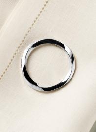 Nickel Twist Napkin Ring, Set of 4