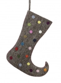 13 3/4in Big Dot Pointed Stocking