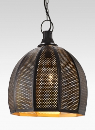 10 1/2 X 9IN IRON MESH CEILING LAMP