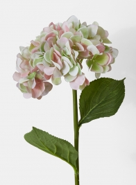 pink and green hydrangea silk flowers