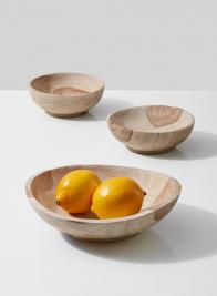 Pedestal Teak Bowls