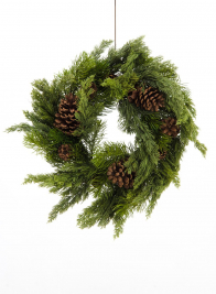 Pine Wreath With Pine Cones