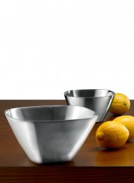 Polished Aluminum Japanese Bowls