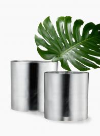 10in Aluminum Cylinder Vase