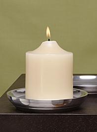 polished aluminum saucer pillar holder AJ012
