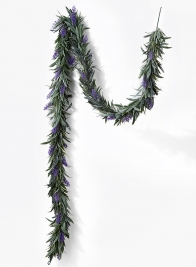 purple lavender garland wedding event decorations