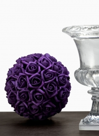 5IN MINI PURPLE ROSE BALL